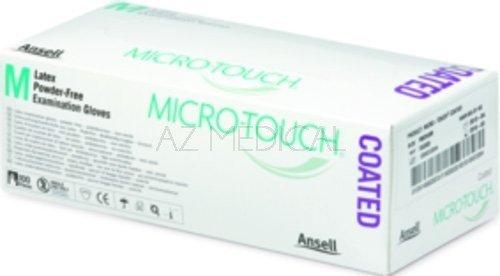 Gants d'examen latex MICRO-TOUCH® COATED - Taille XS 5/6, la boîte de 100