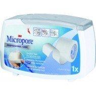 3M™ Micropore™* - Avec dévidoir, dim 9,14 m x 5 cm