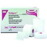 3M™ Medipore™* - Dim 9,14 m x 2,5 cm, sous film plastique