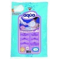 Gants de toilette à usage unique Aqua - Gants Sensitive sans parfum pour la toilette corporelle