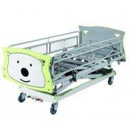 Lit enfant Bambino - Chevet avec un tiroir et un casier coulissant.