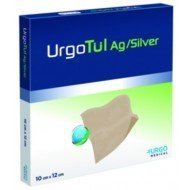 Interface lipido-colloïde non adhésive UrgoTul® Ag/Silver - La boîte de 16, dim. 10 x 12 cm.