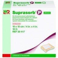 Pansement hydrocellulaire* Suprasorb® P - Pansement format Border. La boîte de 10, dim. 10 x 10 cm.