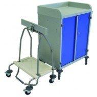 Chariot à portes - Collecteur à pinces pour sac de 70 à 120 litres.