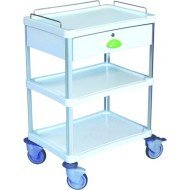 Guéridon standard Résine® 600 x 400 3 plateaux + 1 tiroir - Dim. 15,1 x 21 cm.