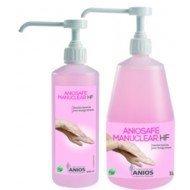 Aniosafe Manuclear HF - Le flacon pompe de 1L non parfumé et non coloré.