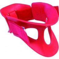 Collier cervical Sober 2 parties - Taille adulte T1, coloris rouge.
