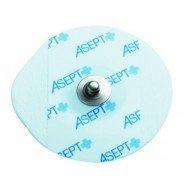 Electrodes prégélifiées mousse contact métal - La boîte de 1 200 rondes, dim 50 x 48 mm