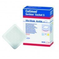 Cutimed® Sorbion® superabsorbant hydro-actif - La boîte de 10, dim 10 x 10 cm, sachet S