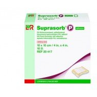 Suprasorb® P - Pansement hydrocellulaire* - Adhésif, dim 10 x 10 cm