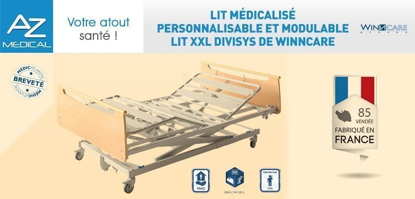 Lit médicalisé personnalisable et modulable - Lit XXL Divisys de WinnCare
